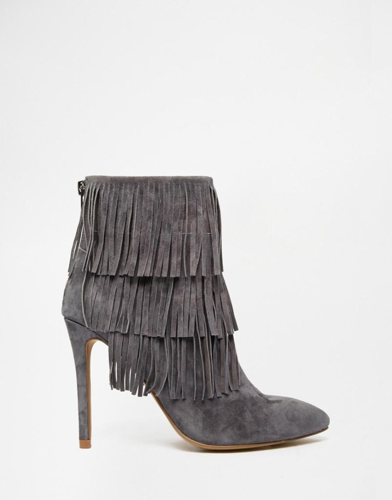 ankle boots con le frange