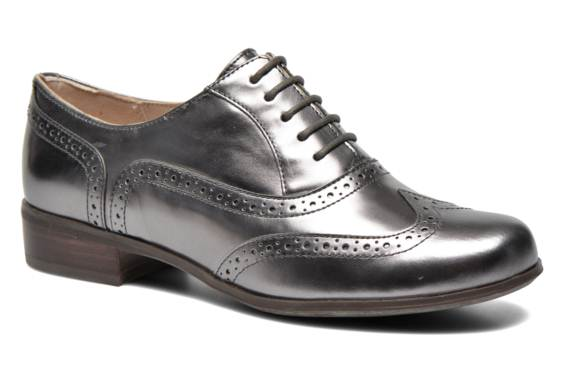 scarpe stringate donna argento
