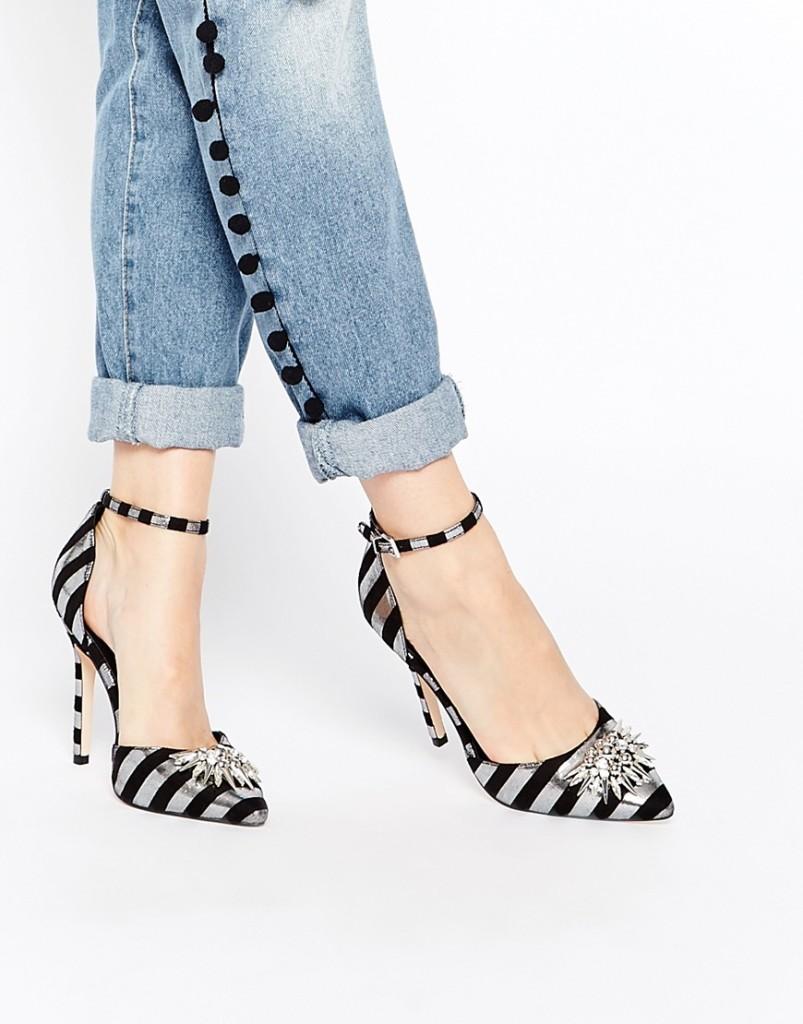 scarpe a righe gioiello