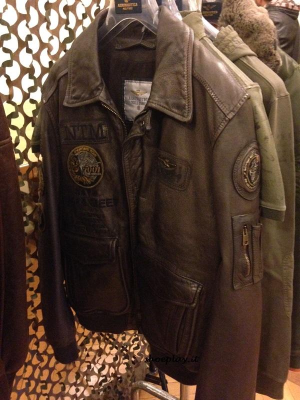 giacca in pelle uomo aeronautica militare ss2016