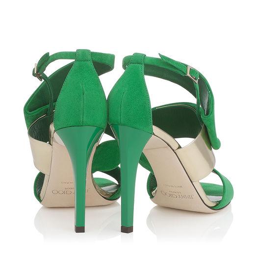 sandalo verde jimmy choo