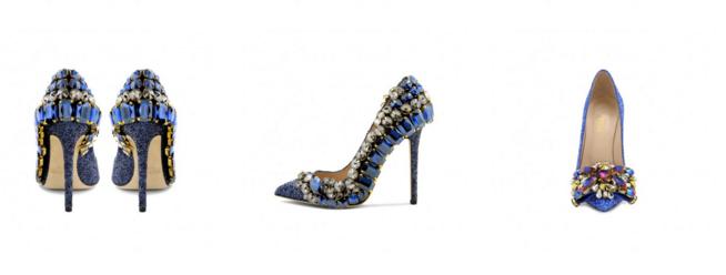 scarpe gioiello blu gedebe
