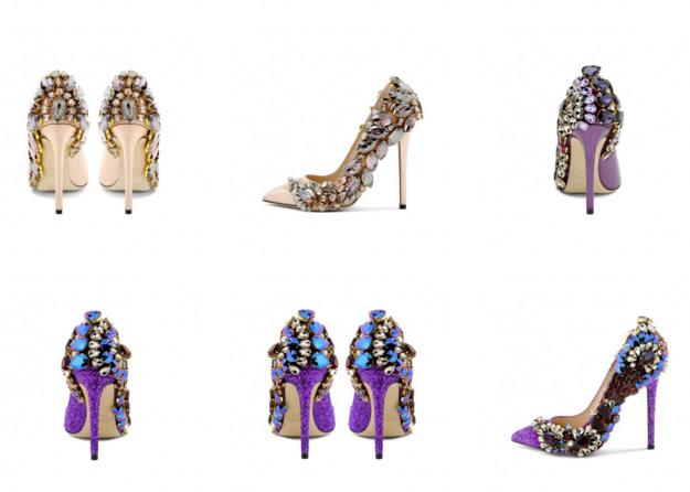 scarpe gioiello viola scarpe gioiello sposa