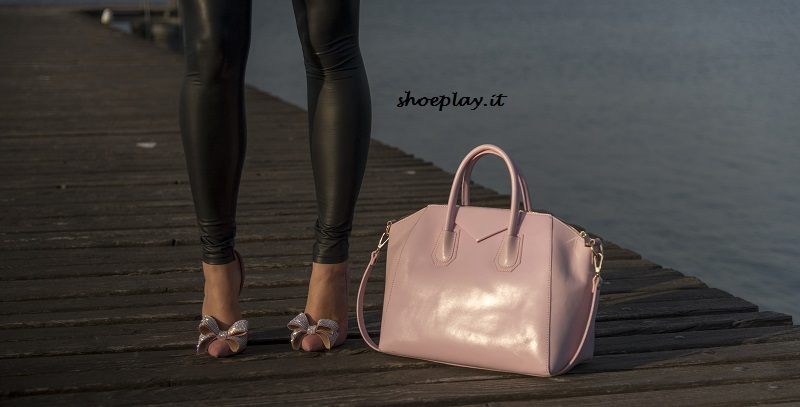 scarpe e borsa rose quartz