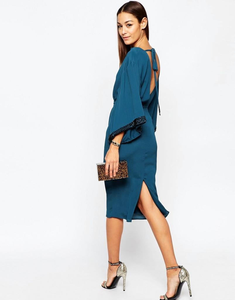 abito kimono blu