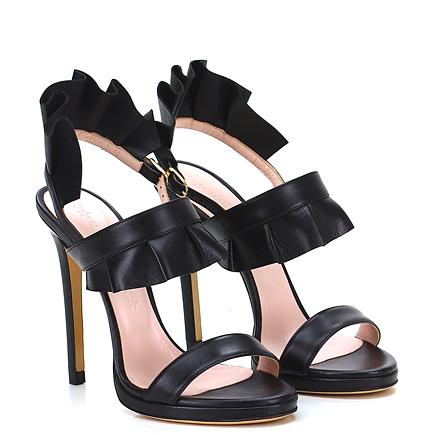 sandali neri tacco alto marc ellis 2016