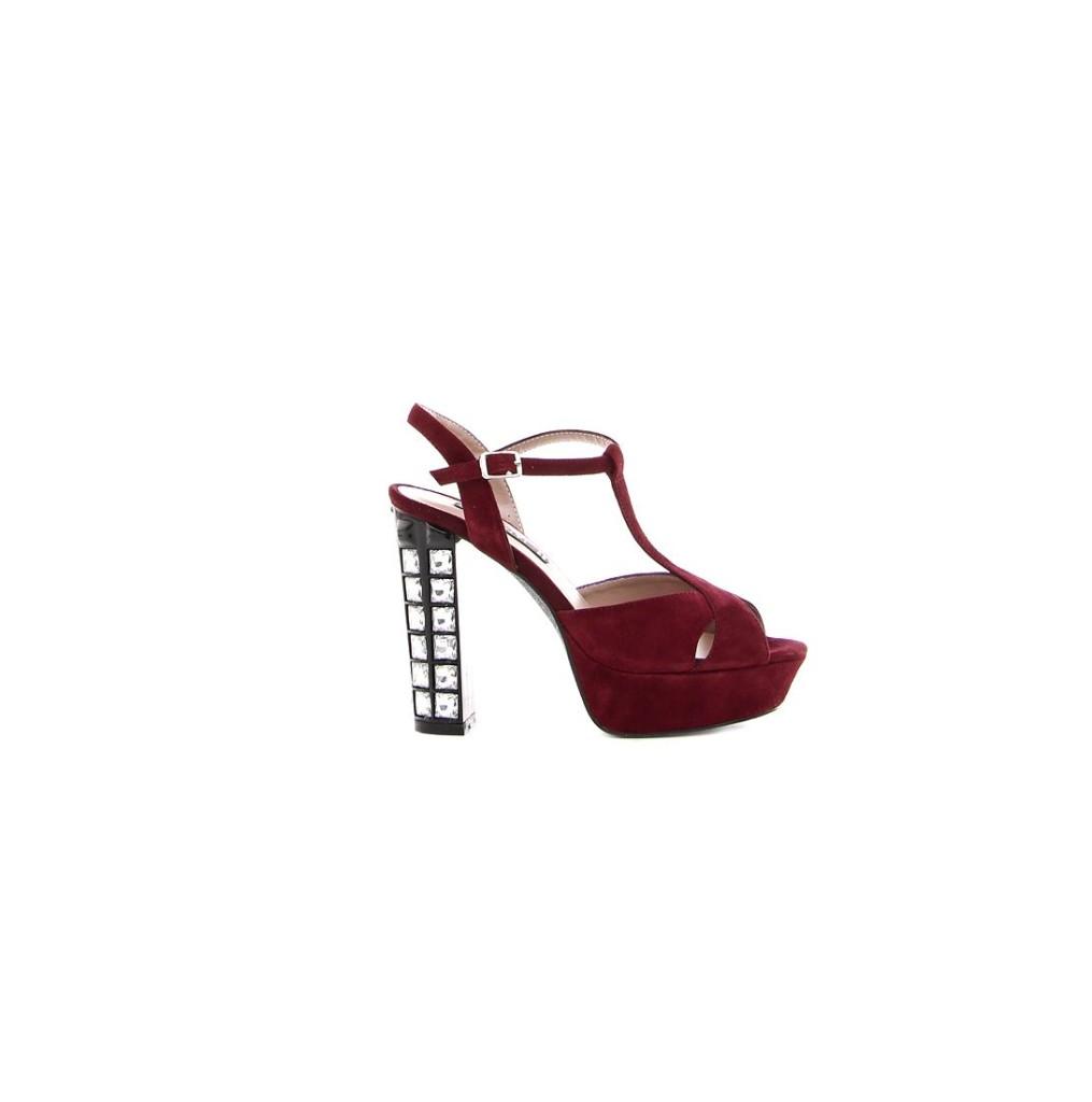 sandali rossi tacco gioiello cinti natale 2015