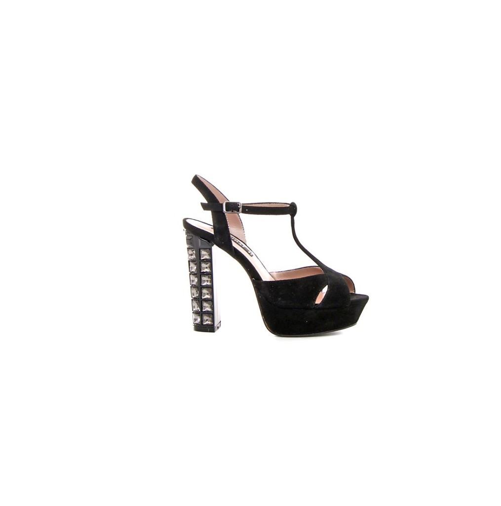 sandalo nero tacco gioiello cinti natale 2015