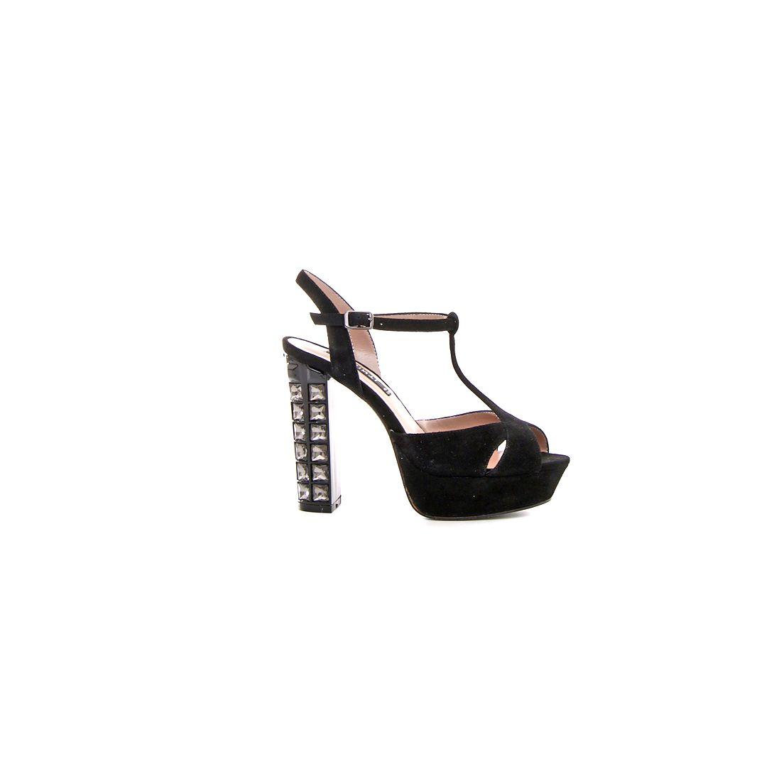 Fashion cinti gioiello Shoeplay natale sandalo 2015 nero tacco QCothrxsdB