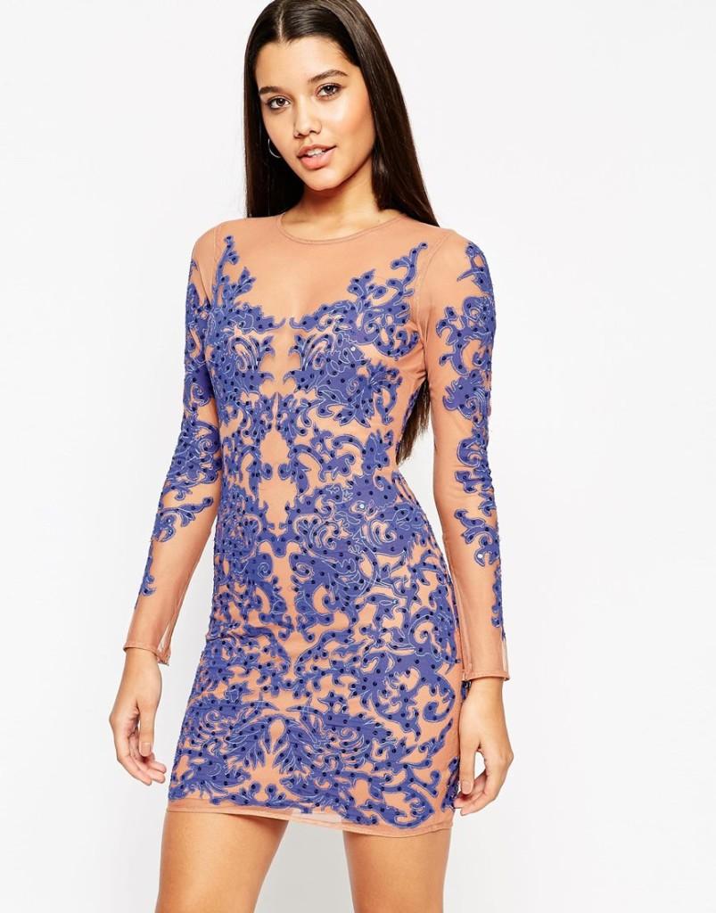 vestito blu elettrico capodanno