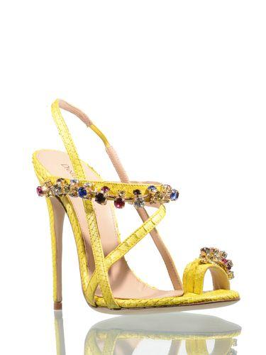sandali gioiello gialli
