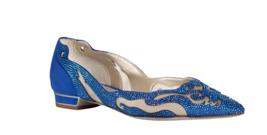 ballerine blu elettrico gioiello