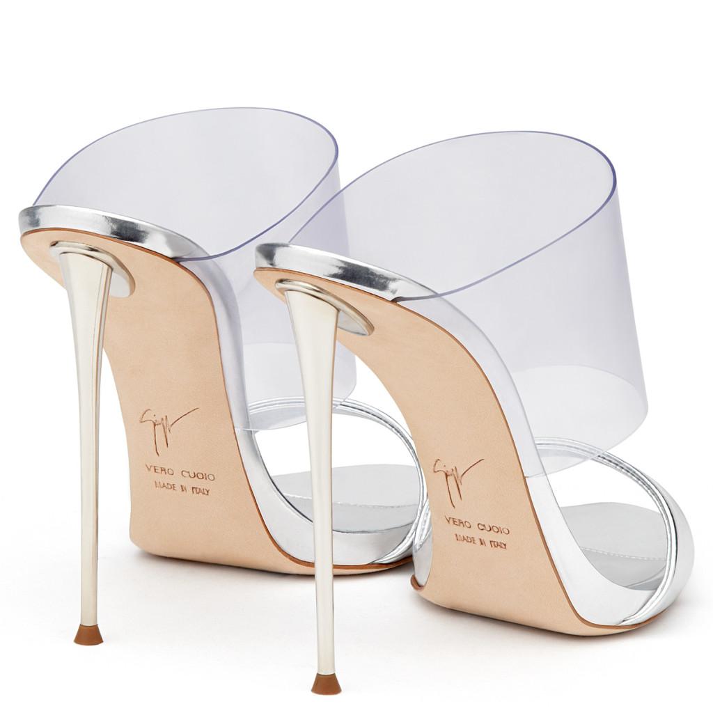 giuseppe zanotti metallic heels 2016