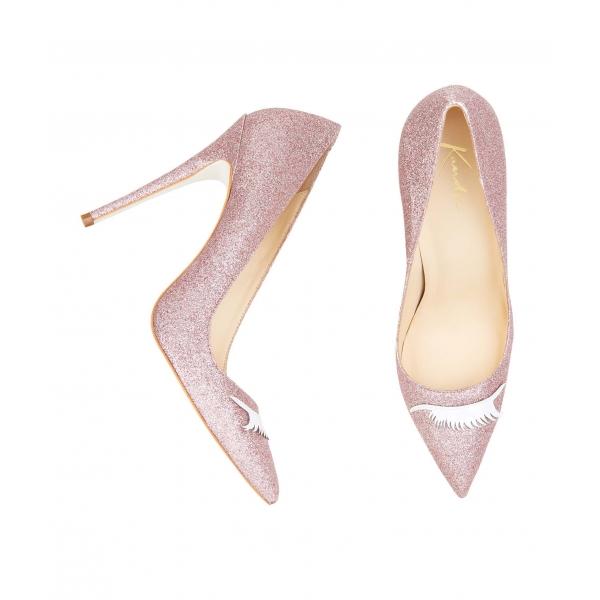 scarpe glitter rosa