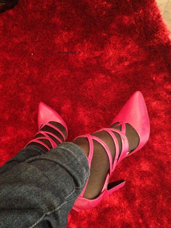 scarpe rosso lampone Autunno Inverno 2017
