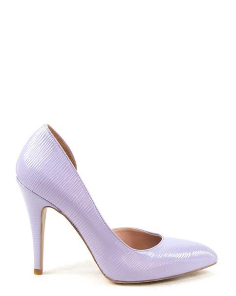 scarpe lilla tacco alto