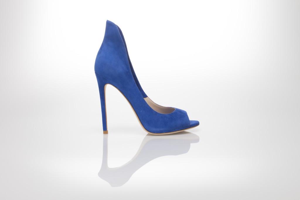 scarpe blu elettrico tacco alto
