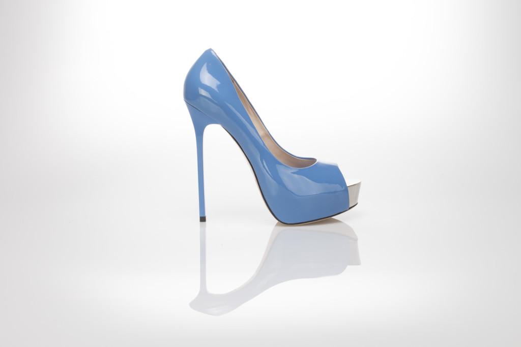 scarpe plateau azzurro