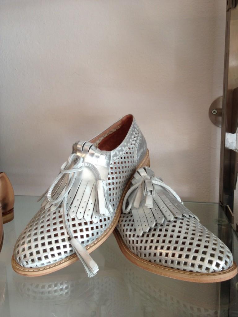 scarpe maschili argento