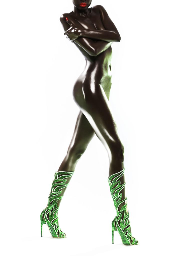 stivali verde smeraldo