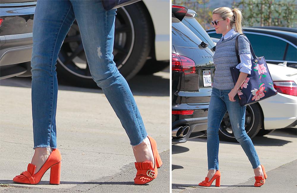 abbinare scarpe arancioni