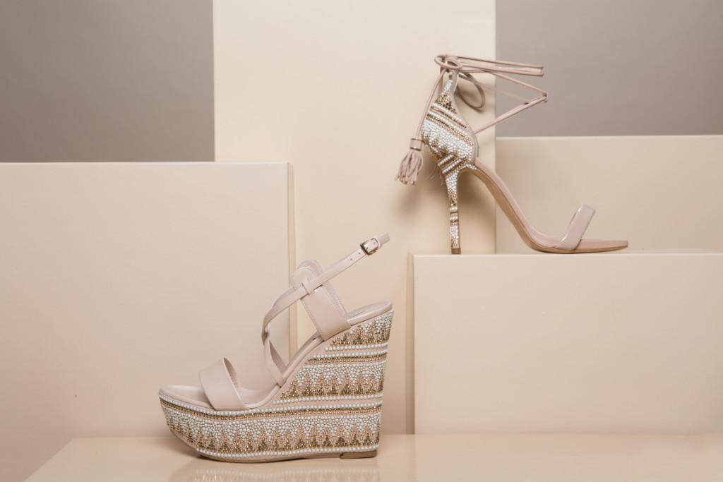 sandali lace up perline