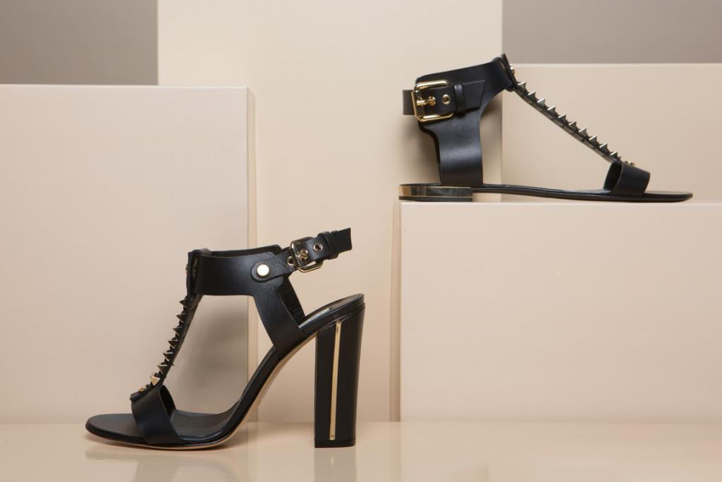sandali neri tacco grosso