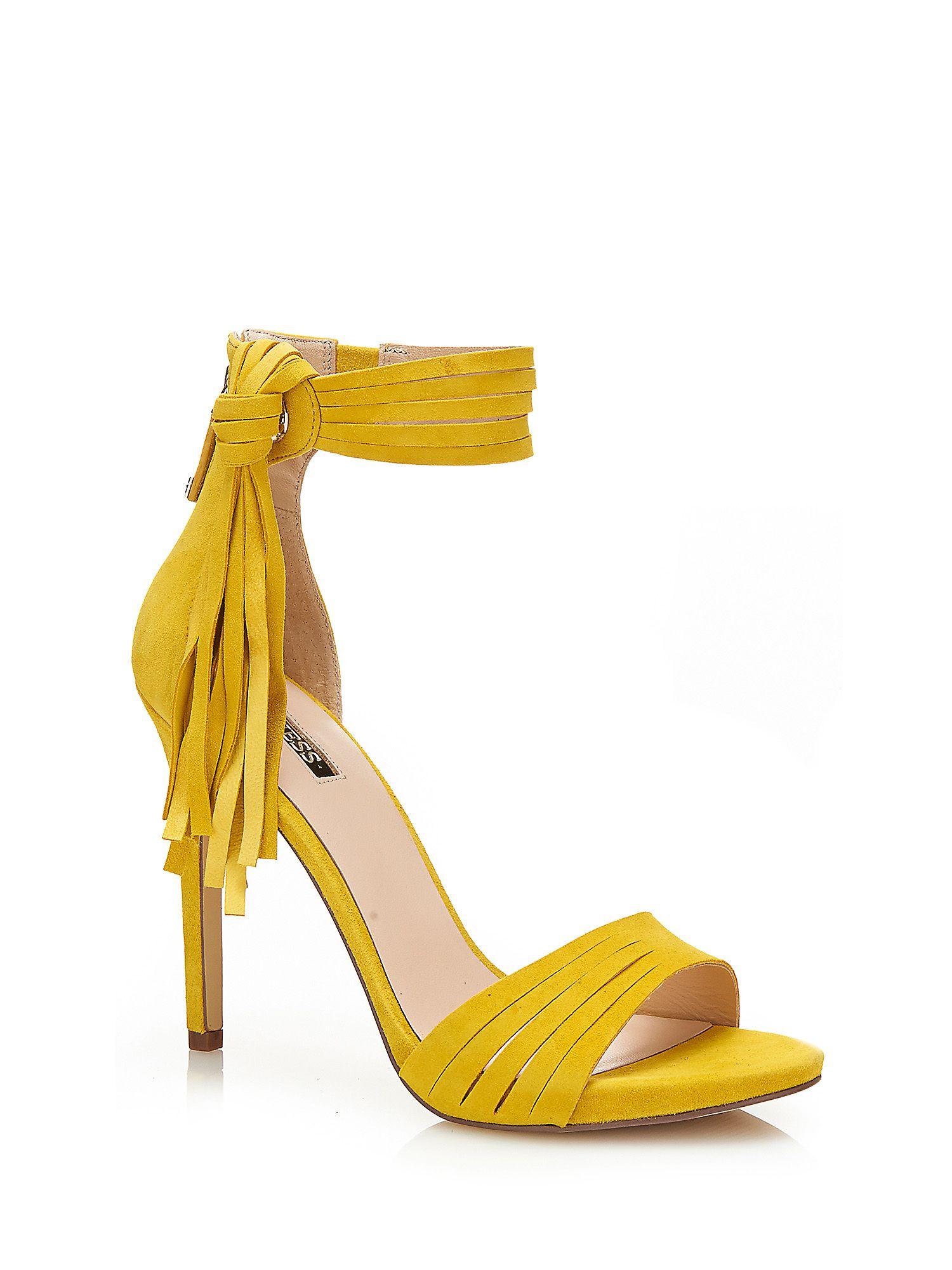 finest selection b0e97 29555 sandali gialli alla moda con tacco alto