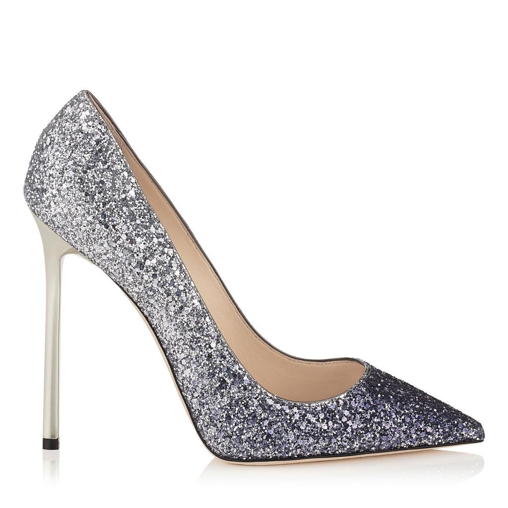 scarpe glitter tacco alto