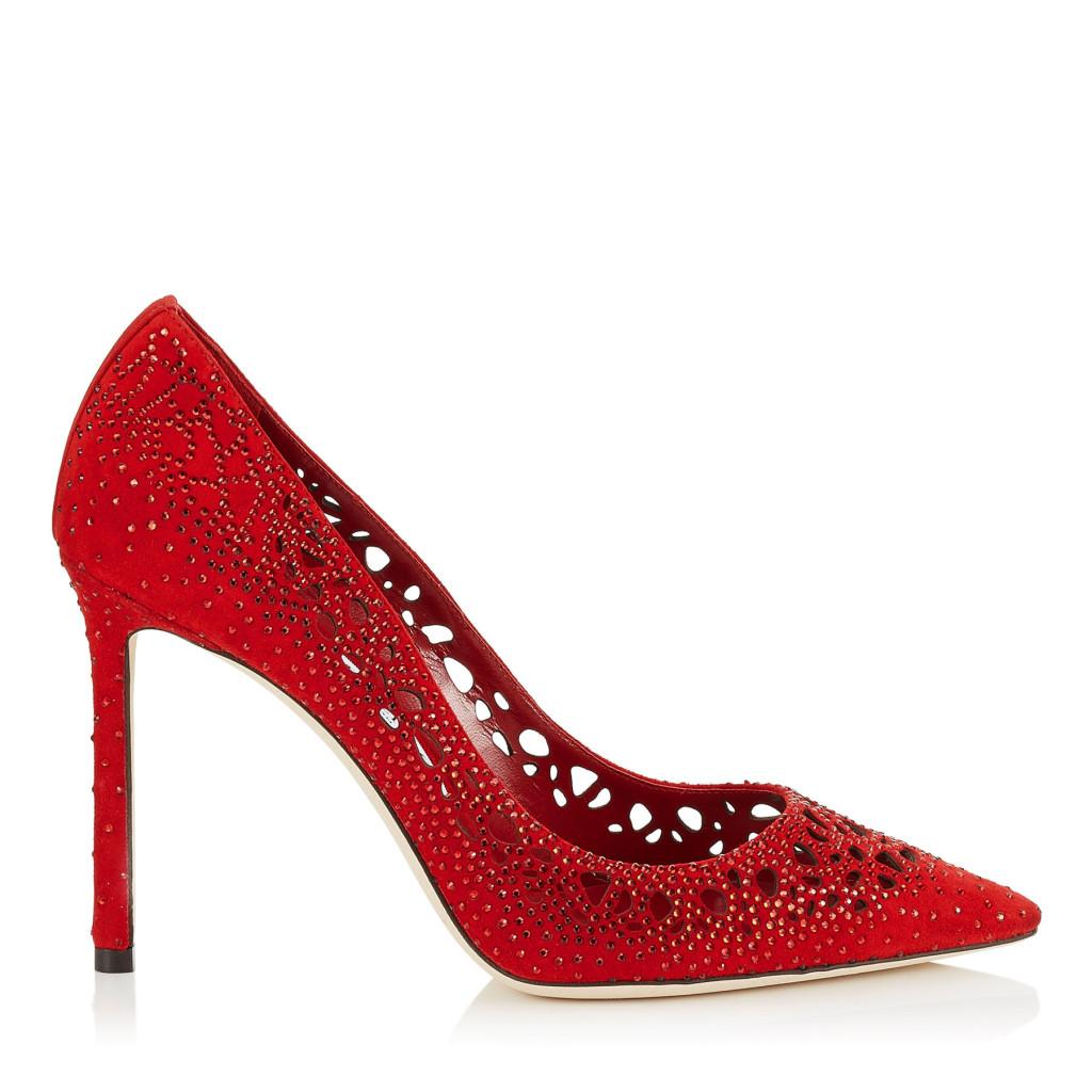 scarpe rosse gioiello