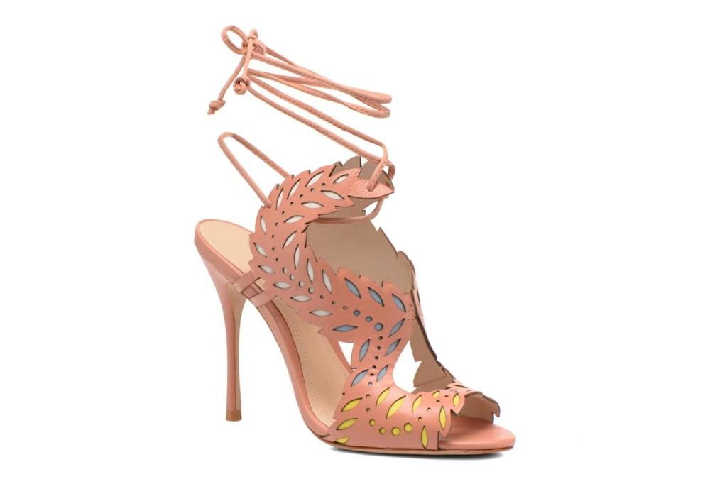 sandali lace up rosa