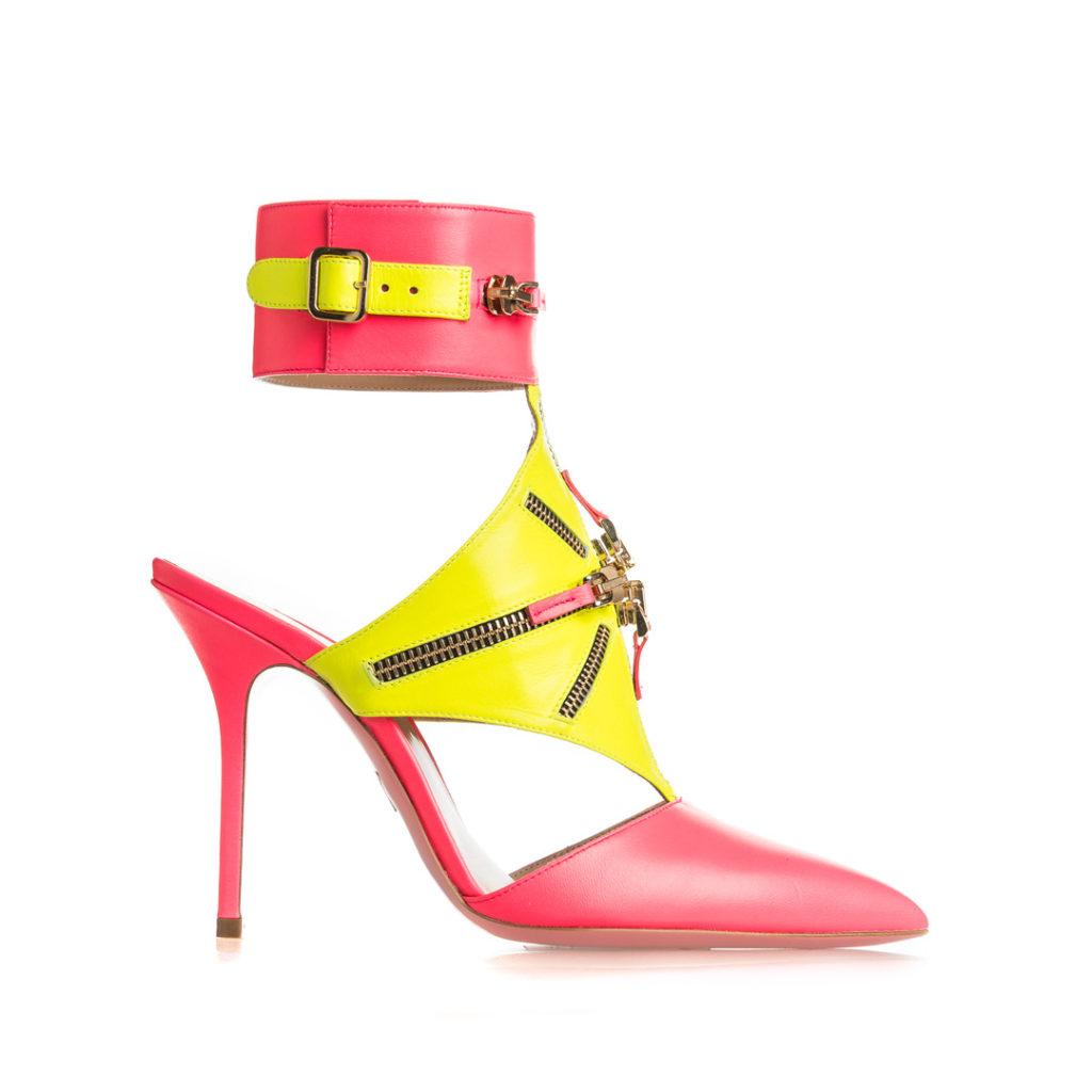 scarpe fuxia giallo