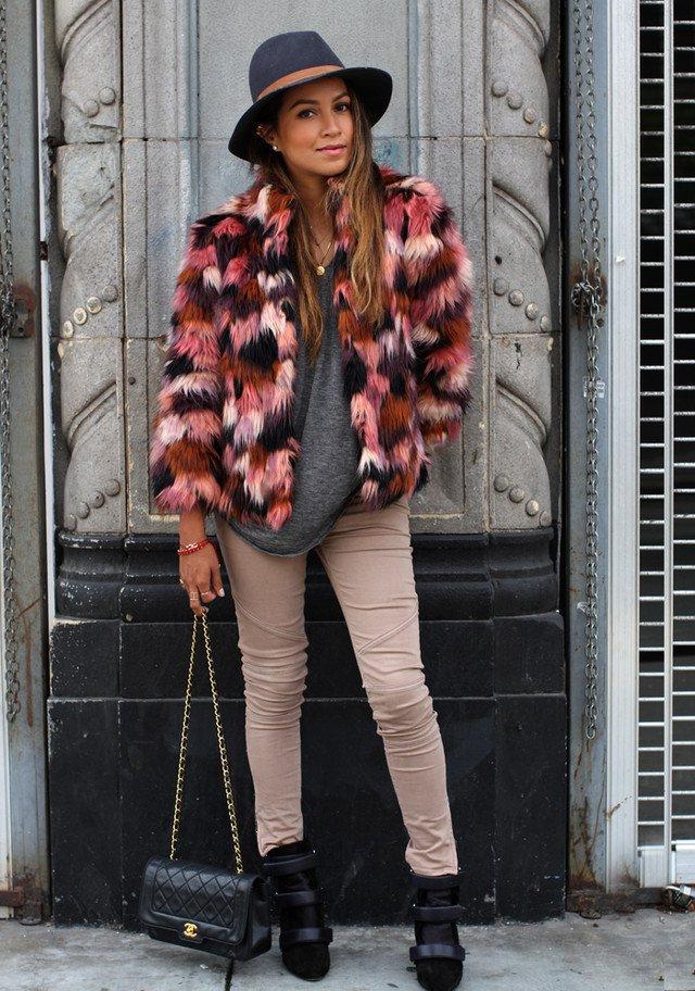 Come indossare e abbinare una pelliccia marrone chiaro (86 ...