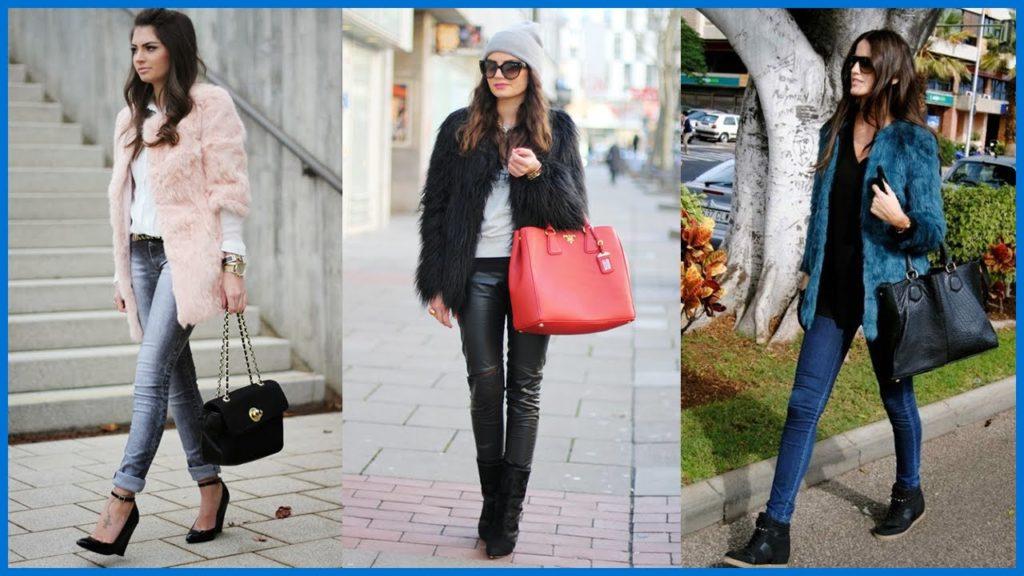 Come abbinare la pelliccia ecologica  outfit e foto per look con ... 3dfe6d38102