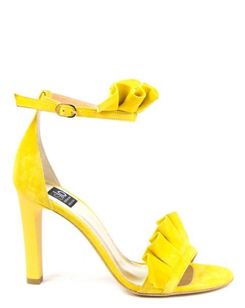 sandali con ruches gialli
