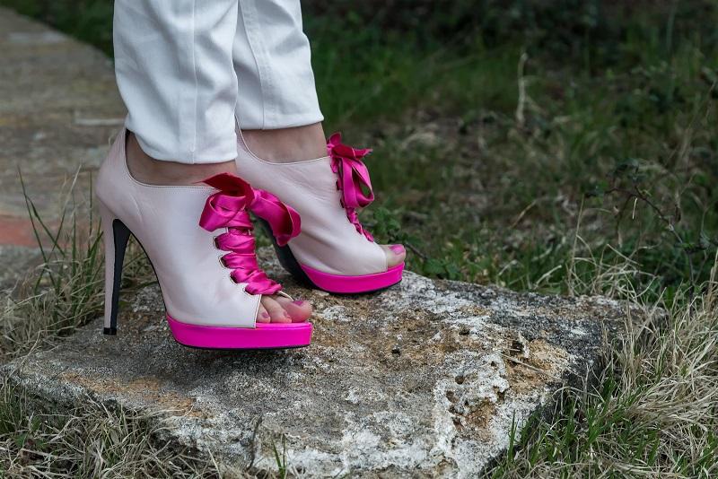 scarpe rosa fiocco