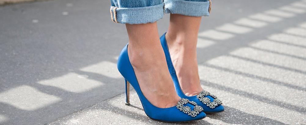 come calzano le scarpe manolo blahnik