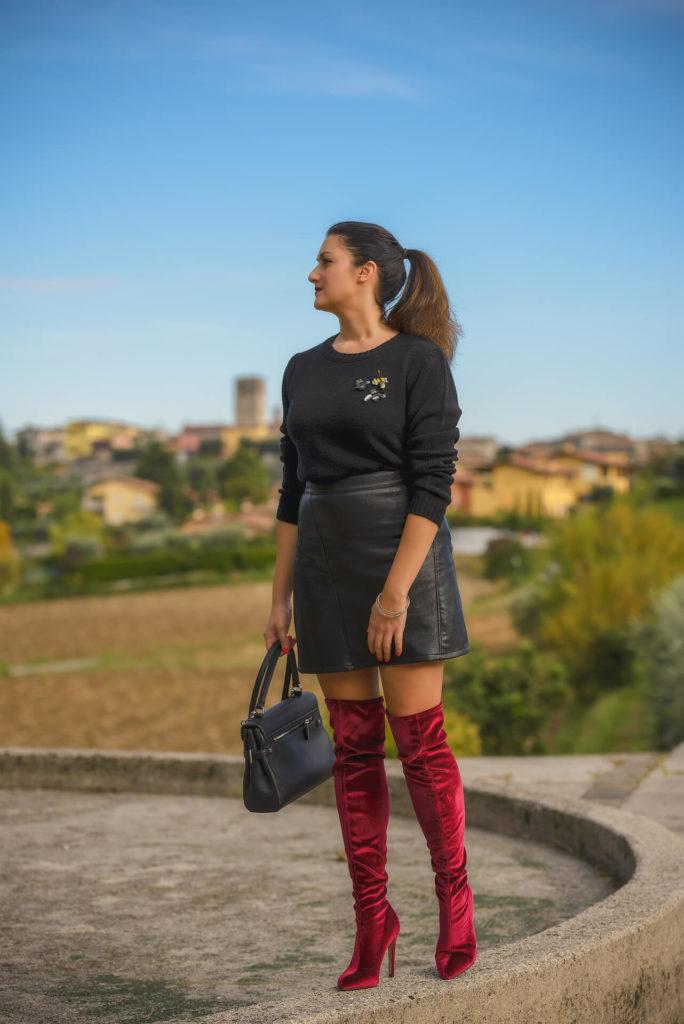 Recensione scarpe Amazon Find  stivali cuissard rossi low cost 6eb1d17e985