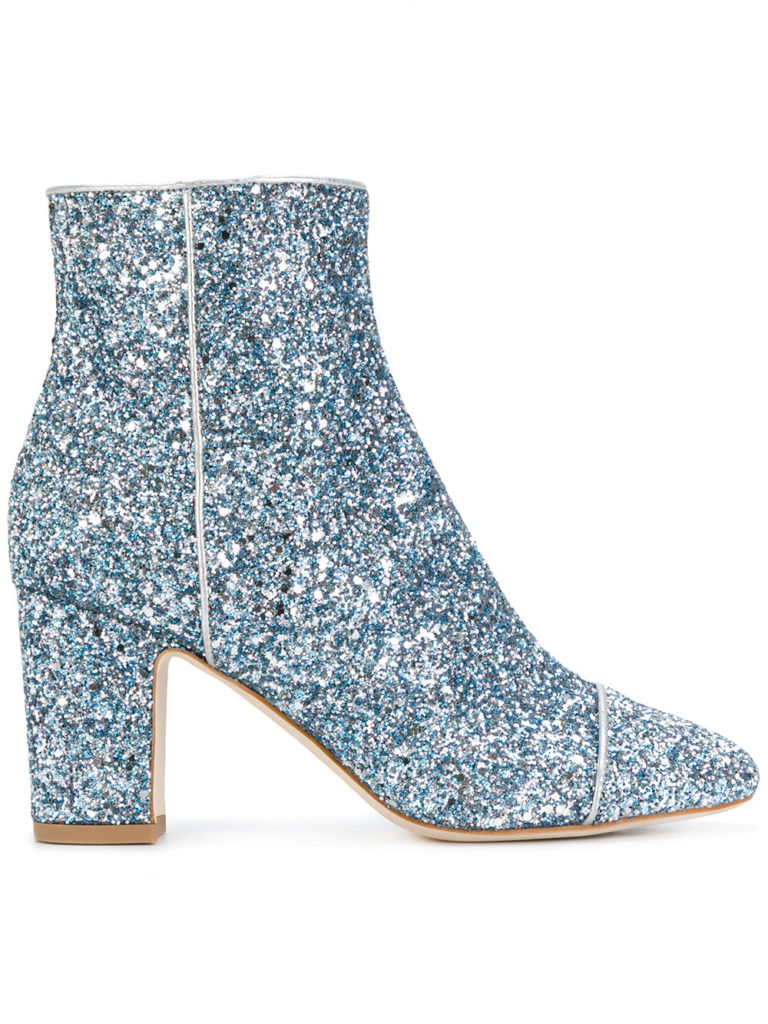 ankle boots glitter