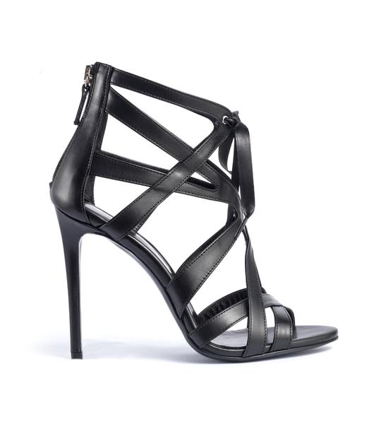 sandali neri tacco alto