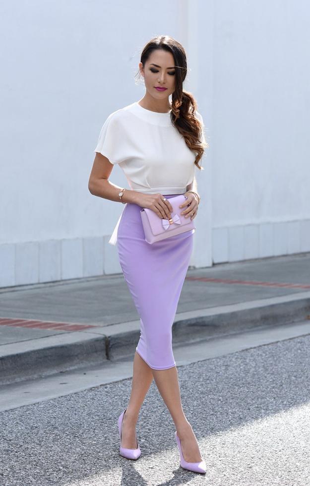 scarpe lilla outfit