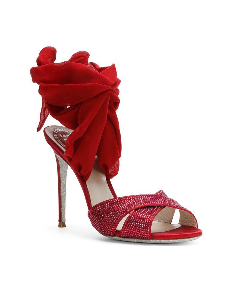 sandali con nastri gioiello
