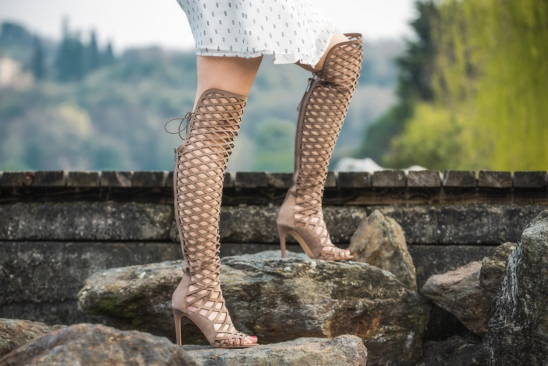 sandali gladiator alti