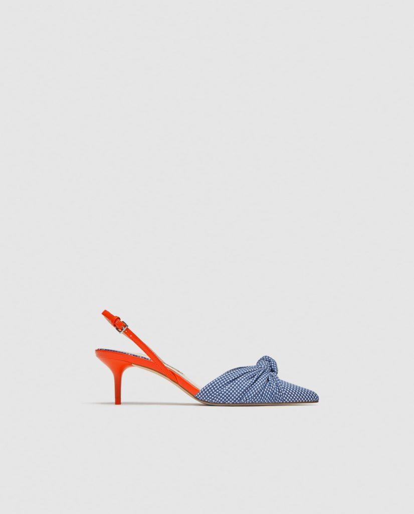 zara scarpe quadretti