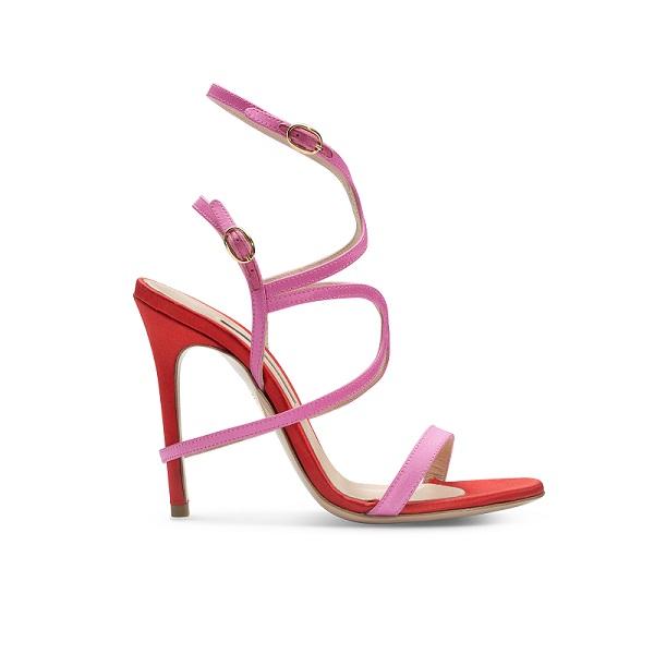 sandali rossi fuxia