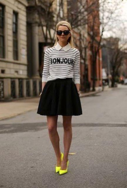bianco e nero e giallo
