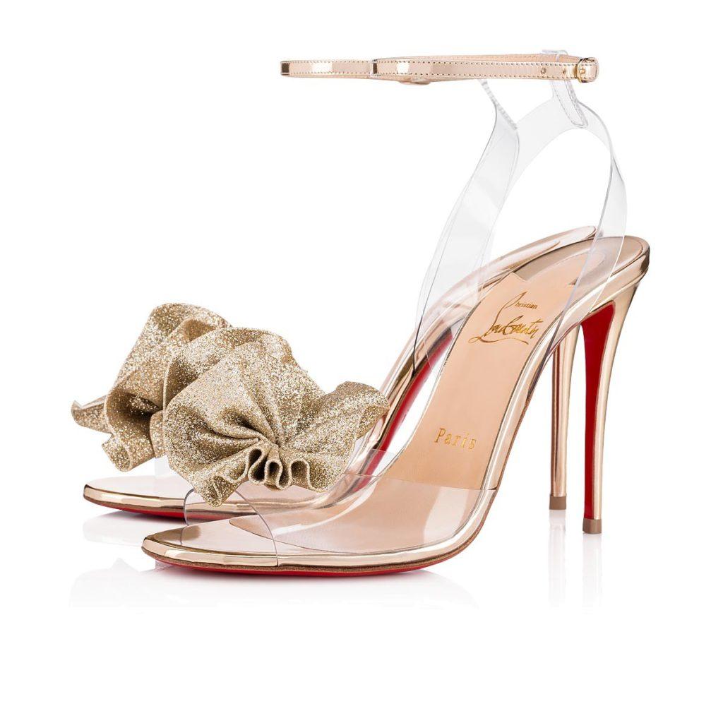 louboutin sandalo PVC