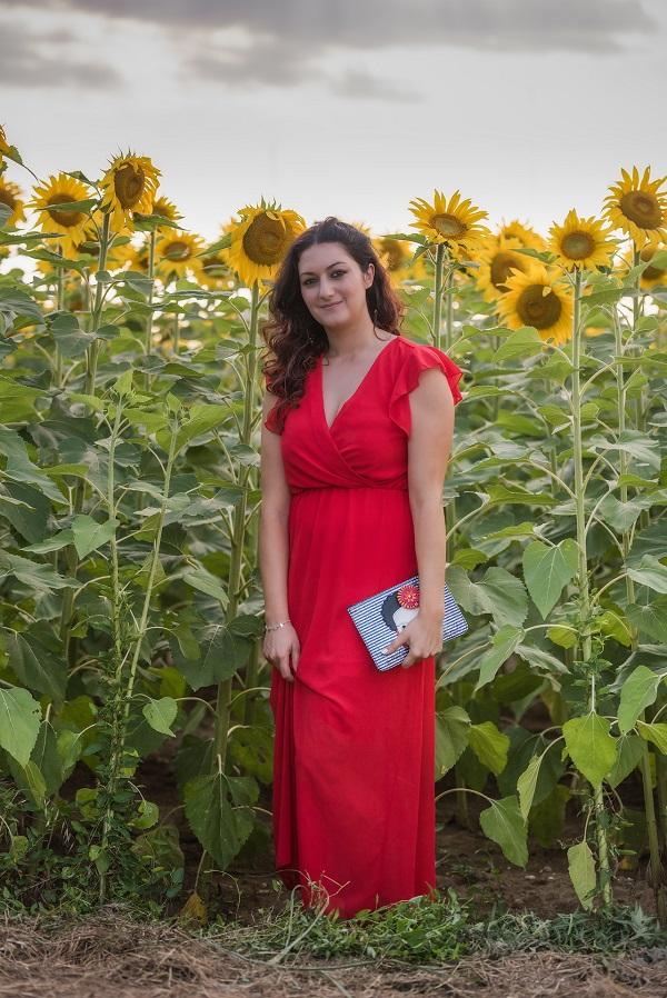 outfit vestito rosso
