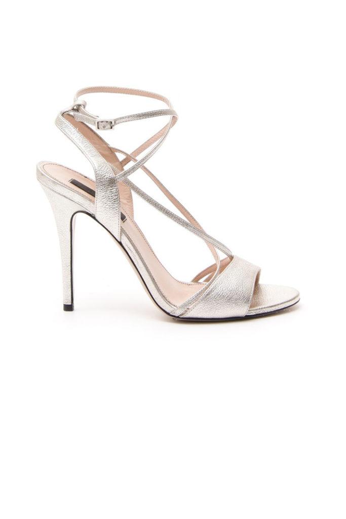 sandali argento tacco alto
