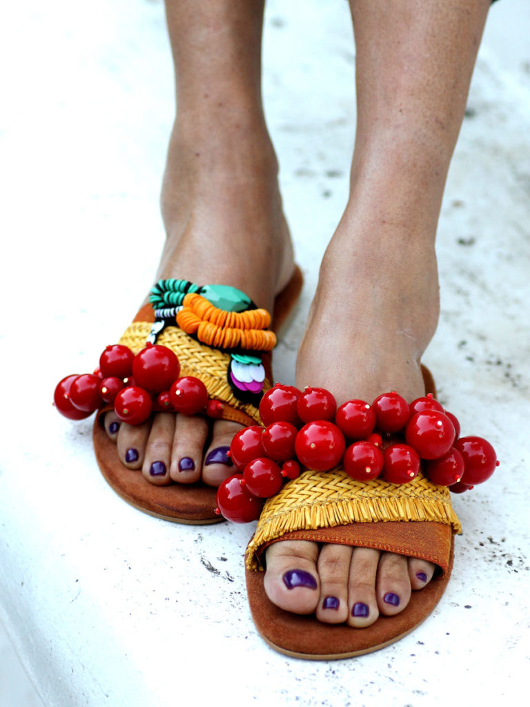 cherry sandals elina linardaki